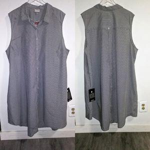 Avenue | NWT Sleeveless Striped Shirt Dress Sz 26